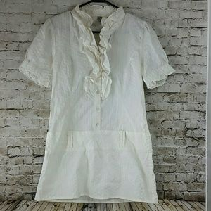 Tunic casual career Large cream color euc